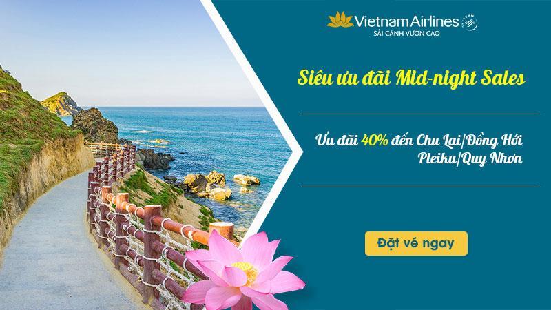 Khuyến mãi từ Vietnam Airline giảm 40% giá vé máy bay đến Quy Nhơn