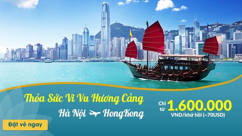 Vietnam Airlines khuyến mãi đến Hong Kong chỉ từ 1.600.000 VND