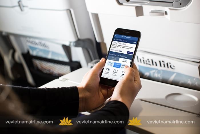 Trải nghiệm dịch vụ wifi trên máy bay Vietnam Airlines