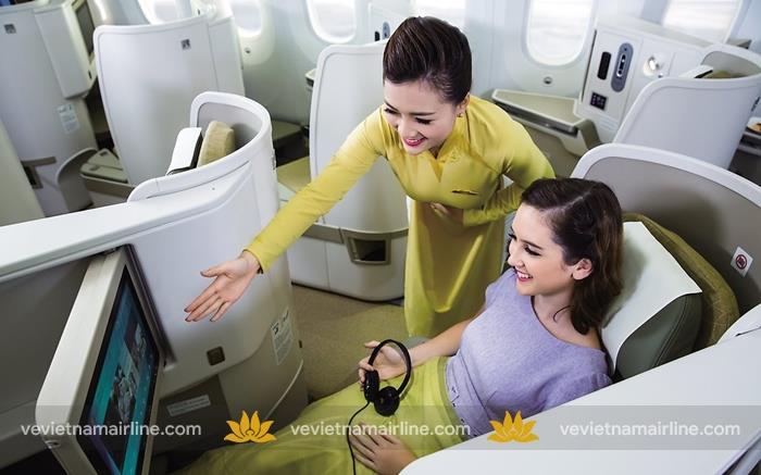 Nâng hạng ghế trải nghiệm hạng thương gia Vietnam Airlines