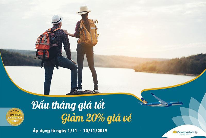 Khởi động tháng 11 khuyến mãi giảm 20% Vietnam Airlines