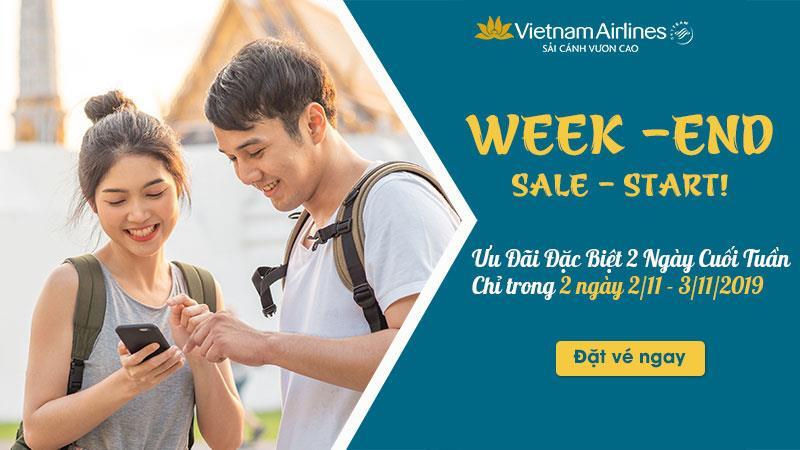 Khuyến mãi đặc biệt 2 ngày cuối tuần của Vietnam Airlines