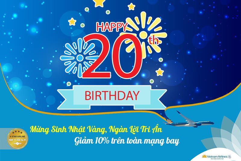 Khuyến mãi giảm 10% giá vé mừng sinh nhật Vietnam Airlines