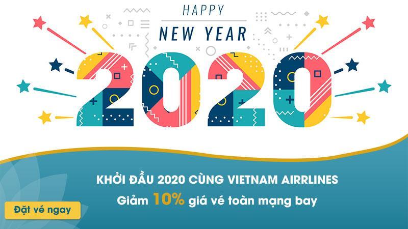Khuyến mãi giảm 10% khởi đầu 2020 cùng Vietnam Airlines