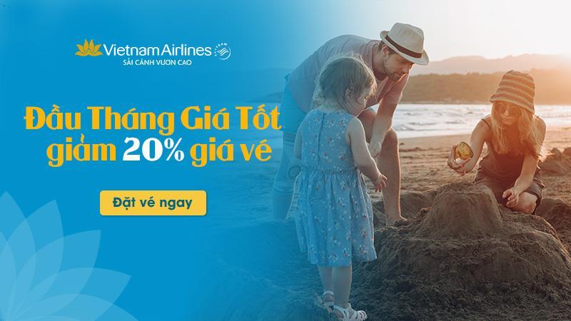 Khuyến mãi lớn đầu tháng từ Vietnam Airlines vi vu trải nghiệm