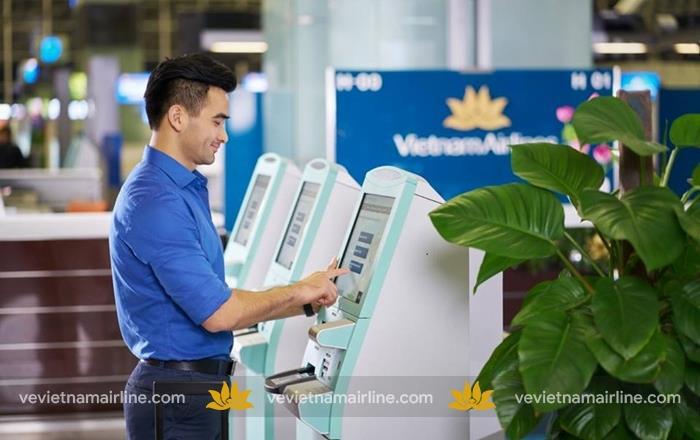 Vietnam Airlines triển khai dịch vụ ký gửi hành lý tại kiosk