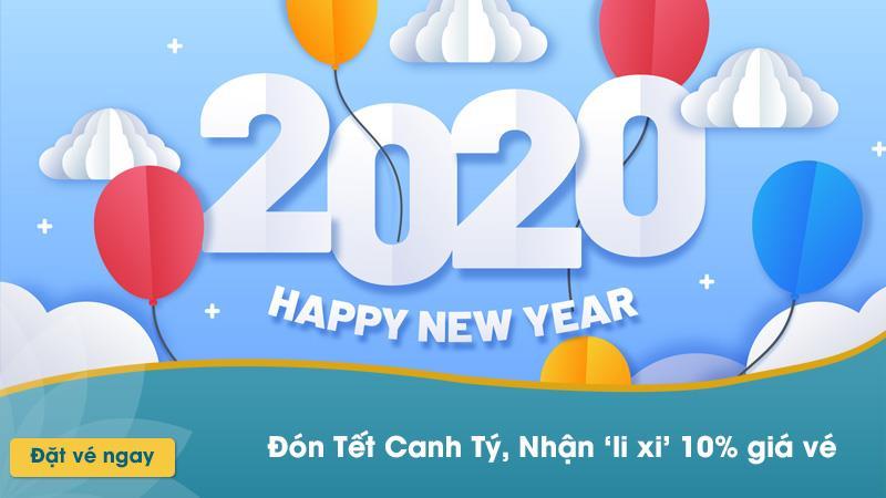 Vietnam Airlines khuyến mãi 10% lì xi Tết Canh Tý