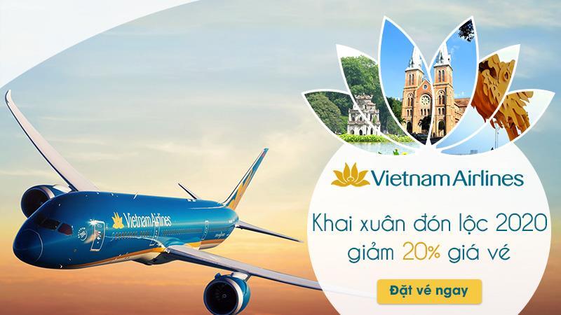 Khuyến mãi giảm 20% giá vé khai xuân cùng Vietnam Airlines