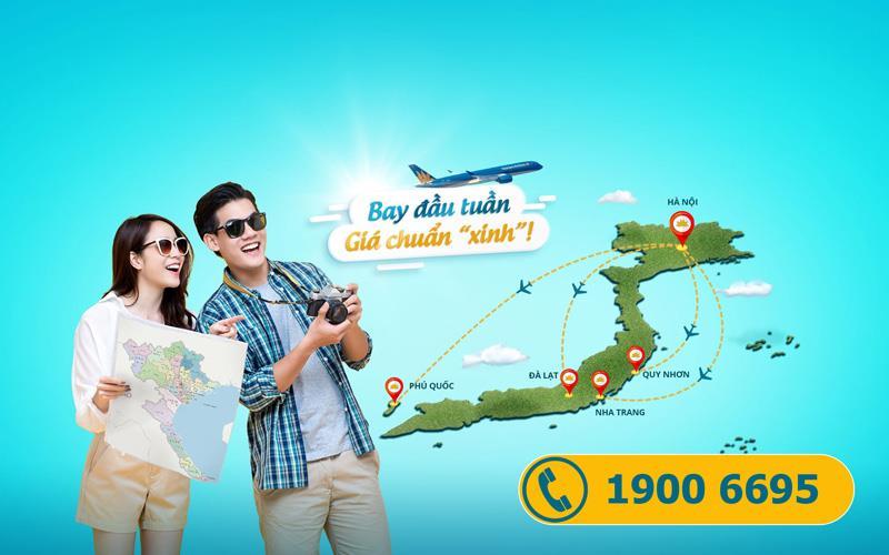 Khuyến mãi Vietnam Airlines bay đầu tuần giá chuẩn xinh