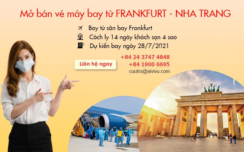 Vé máy bay chuyến bay charter từ Đức về Việt Nam ngày 28/07