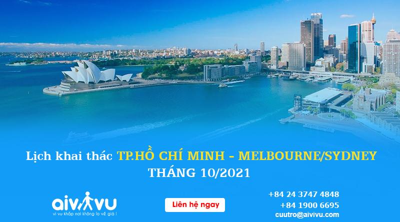 Lịch bay Vietnam Airlines Hồ Chí Minh đi Melbourne/ Sydney tháng 10